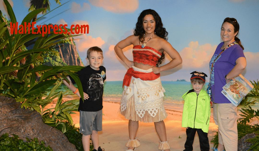 Meeting Disney's Moana: A Disney World Character Meet and Greet