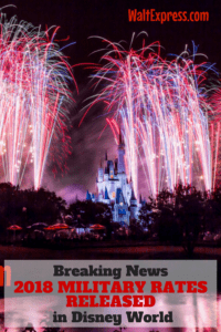 Breaking News: Disney World Releases Military Discounts for 2018