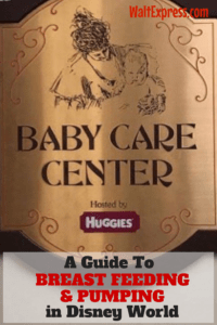 A Guide to Breastfeeding and Pumping at Disney World