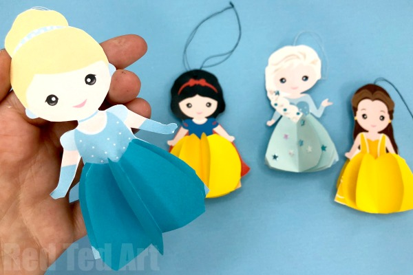 DIY Disney Princess Paper Doll Craft