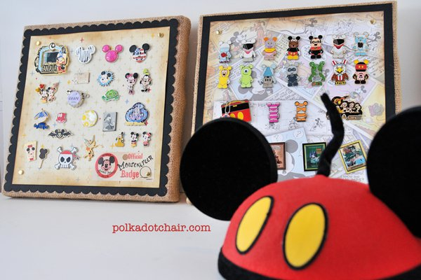 DIY Disney Pin Display by Polka Dot Chair