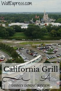 California Grill: A Disney Dining Review