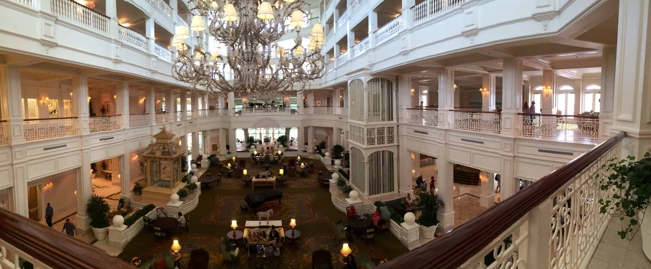 The lobby of the Grande Floridian Resort and Spa.