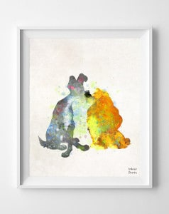 Lady and the Tramp Print