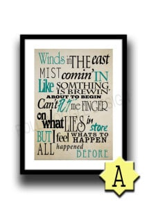 Mary Poppins Quote Poster