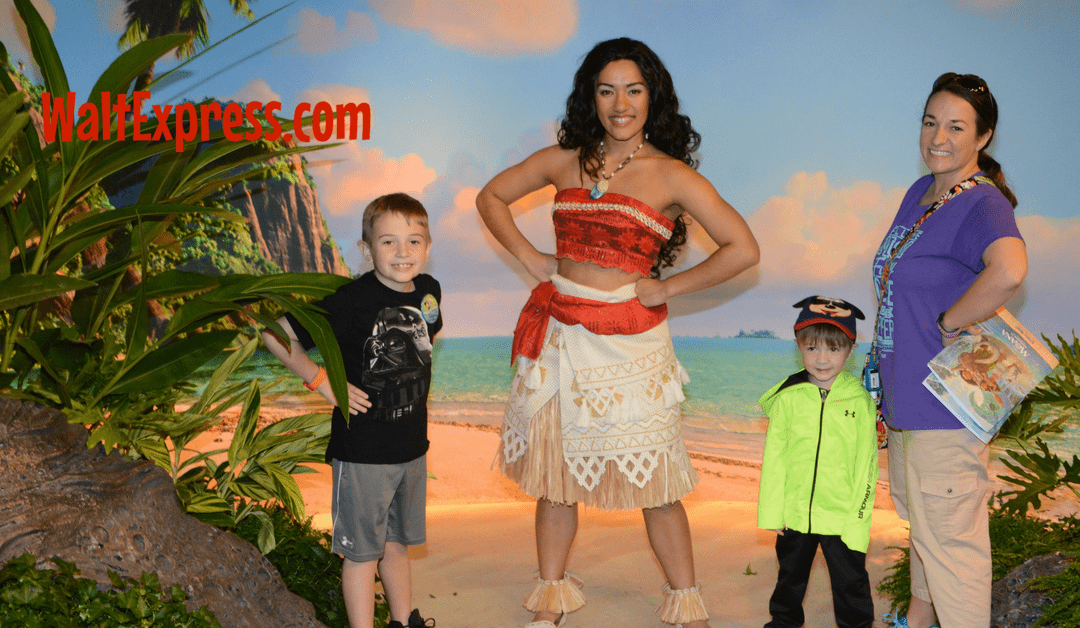 Meeting disneys moana a disney world character meet and greet m4hsunfo