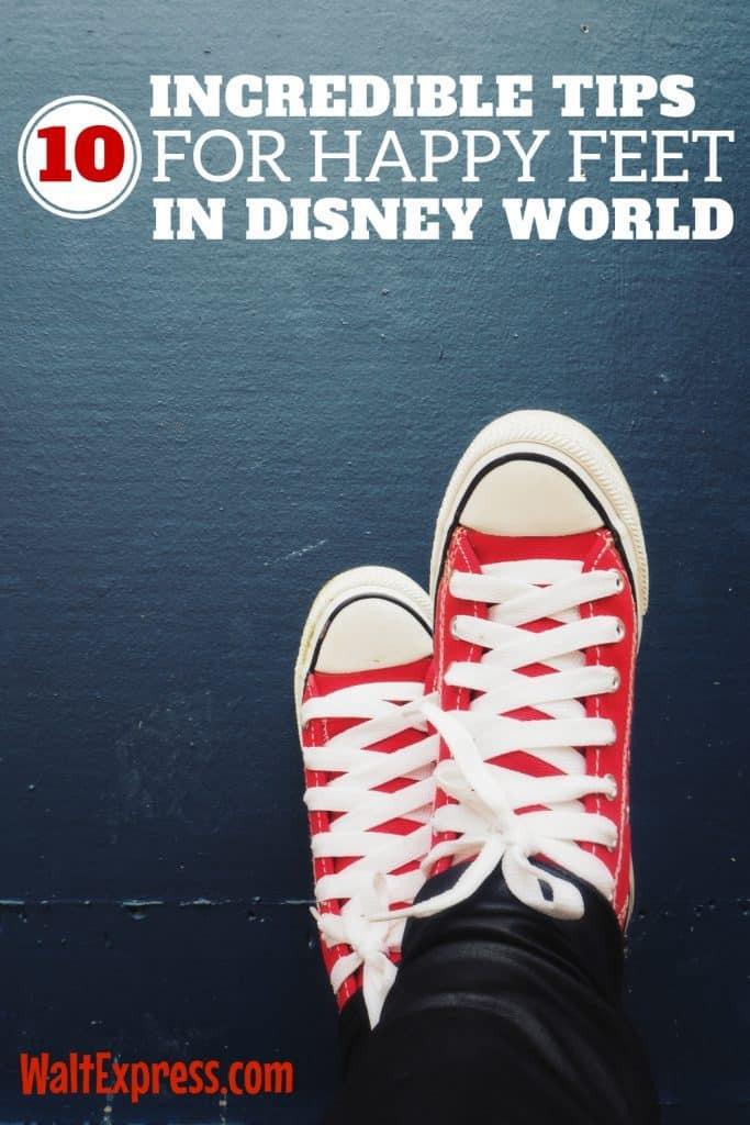 A walk around Disney World is no joke! Here's how to keep your feet happy while you adventure. #WaltExpress #DisneyWorld #HappyFeet