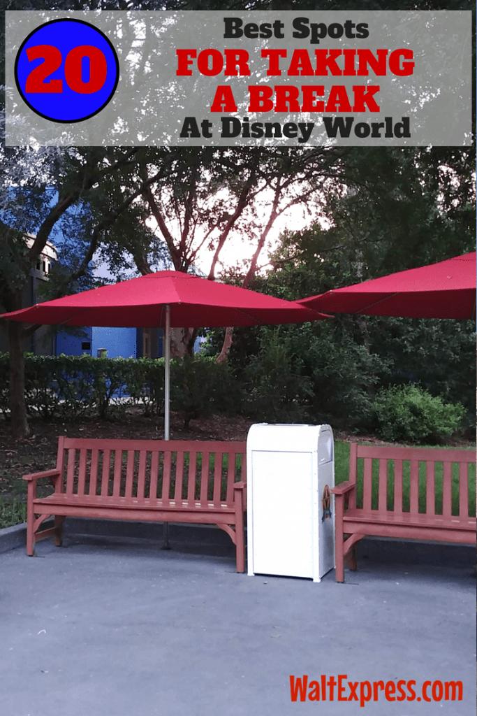 Top 20 Best Spots To Take A Break In Disney World