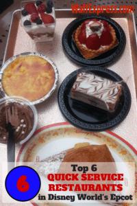 The Top 6 Quick Service Restaurants in Disney World's EPCOT