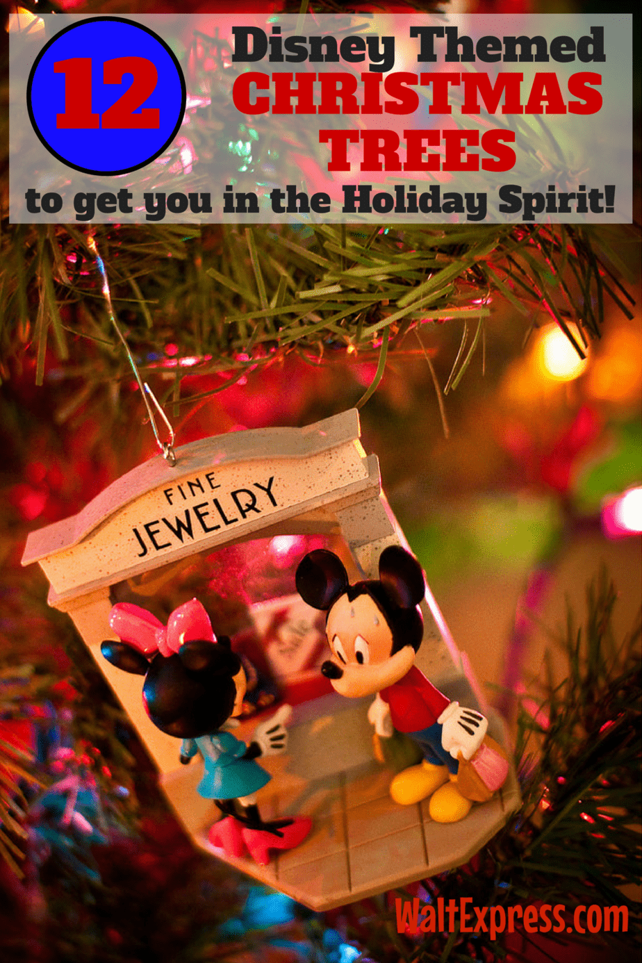 12 Disney Themed Christmas Trees To Get You In The Holiday Spirit