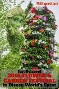 Just Released: Epcot's 25th Annual Flower & Garden Festival Returns