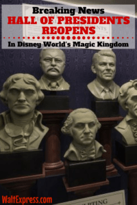 Breaking News: Hall of Presidents Reopens at Disney World's Magic Kingdom