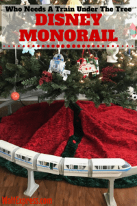 Who Needs A Train Around The Tree When You Can Have The Disney Monorail?