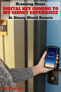 Breaking News: Digital Key Coming To My Disney Experience App