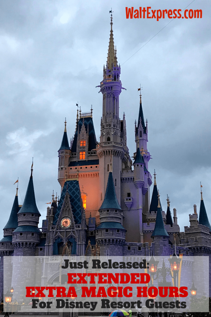 Just Released: Extended Extra Magic Hours For Disney World Resort Guests