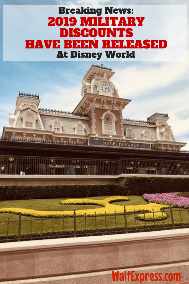 Breaking News: Disney World Releases Military Discounts for 2019