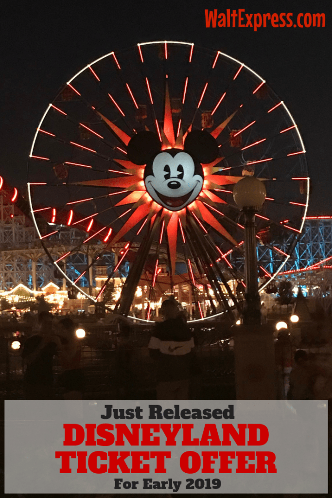Just Released: Special Disneyland Ticket Offer For Early 2019