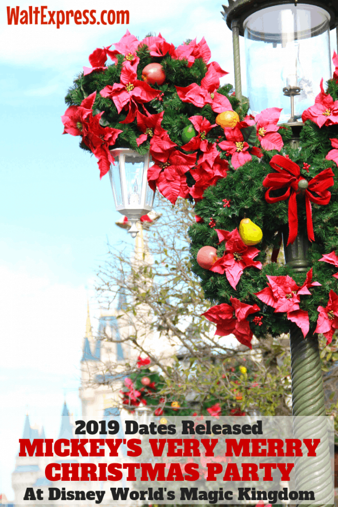 Mickeys Very Merry Christmas Party 2019 Tickets.Disney World Releases Dates For 2019 Mickey S Very Merry
