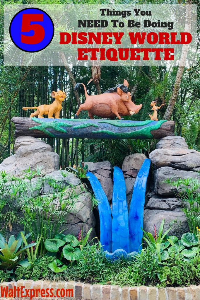 #waltexpress #disneyworld #disneyworldplanning Disney World Etiquette