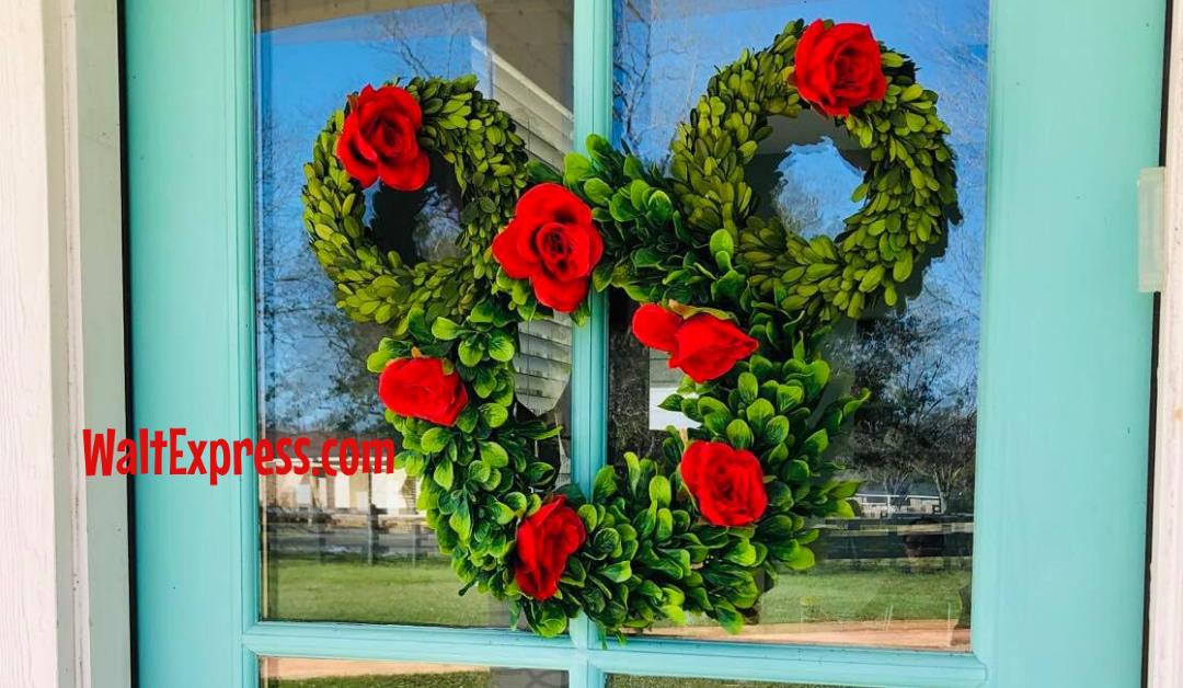 Spring Farmhouse Mickey Mouse Disney Wreath-DIY