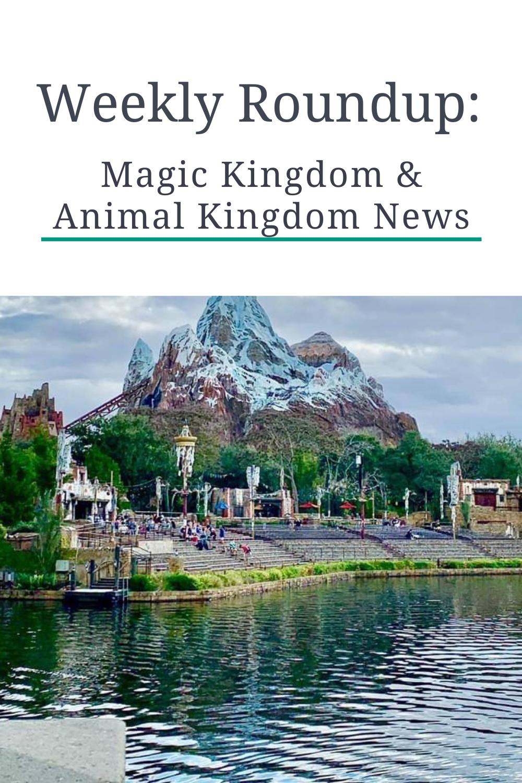 Weekly Roundup: Magic Kingdom and Animal Kingdom News