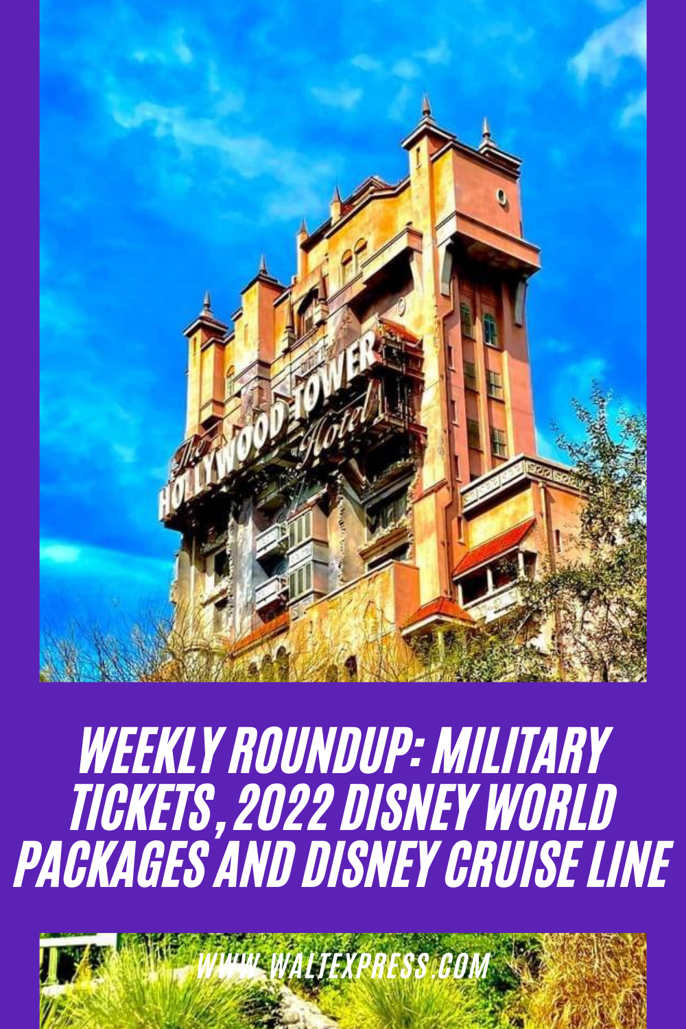 Weekly Roundup:Military Tickets, 2022 Disney World Packages and Disney Cruise Line