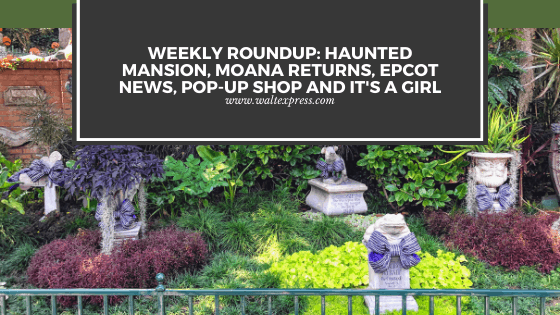 Weekly Roundup: Haunted Mansion, Moana Returns, Epcot News, Pop-Up Shop and It's a Girl